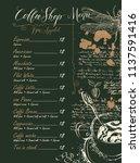 vector coffee shop menu with... | Shutterstock .eps vector #1137591416
