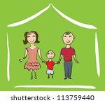 happy family illustration   Shutterstock .eps vector #113759440
