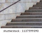 granite staircase   city... | Shutterstock . vector #1137599390