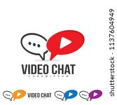 video chat logo. multimedia...