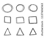 doodle hand drawn sketch of... | Shutterstock .eps vector #1137606563