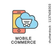 icon mobile commerce. trade... | Shutterstock .eps vector #1137608303