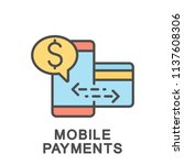 icon of mobile payments via... | Shutterstock .eps vector #1137608306