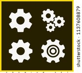 set of 4 settings filled icons... | Shutterstock . vector #1137608879
