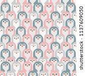 adorable penguins  seamless... | Shutterstock .eps vector #1137609050