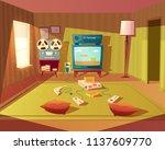 vector cartoon illustration of... | Shutterstock .eps vector #1137609770