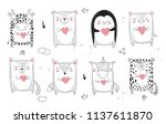 vector line drawing collection... | Shutterstock .eps vector #1137611870