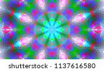geometric design  mosaic of a... | Shutterstock .eps vector #1137616580