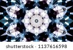 geometric design  mosaic of a... | Shutterstock .eps vector #1137616598