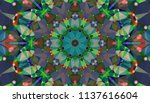 geometric design  mosaic of a... | Shutterstock .eps vector #1137616604