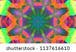 geometric design  mosaic of a... | Shutterstock .eps vector #1137616610