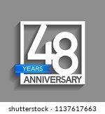 48 years anniversary... | Shutterstock .eps vector #1137617663