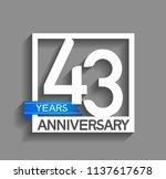 43 years anniversary...   Shutterstock .eps vector #1137617678