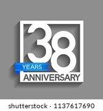 38 years anniversary...   Shutterstock .eps vector #1137617690