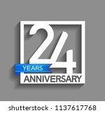 24 years anniversary...   Shutterstock .eps vector #1137617768