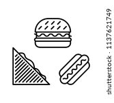 fast food  burger  triangle... | Shutterstock .eps vector #1137621749