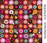 fun pattern - stock photo