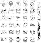 thin line vector icon set  ... | Shutterstock .eps vector #1137630713