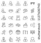 thin line vector icon set  ... | Shutterstock .eps vector #1137630743