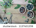 honeysuckle berry and cup cakes ... | Shutterstock . vector #1137631358