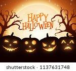 banner cartoon halloween... | Shutterstock .eps vector #1137631748