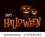 banner cartoon halloween... | Shutterstock .eps vector #1137631763