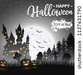 halloween background with... | Shutterstock .eps vector #1137631790