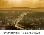 high view point hazy cityscape... | Shutterstock . vector #1137639626