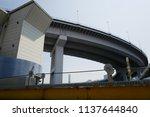 urban architecture in tokyo | Shutterstock . vector #1137644840