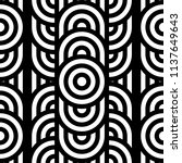 seamless pattern with circles... | Shutterstock .eps vector #1137649643