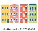 italy colorful facades vector.... | Shutterstock .eps vector #1137651638