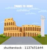 italy landmark attractions.... | Shutterstock .eps vector #1137651644