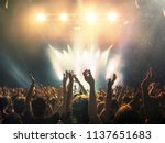 concert shot with floating dust ... | Shutterstock . vector #1137651683
