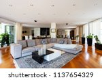 modern living room with large... | Shutterstock . vector #1137654329