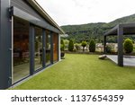 private garden on the roof of a ... | Shutterstock . vector #1137654359