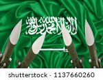 3d waving flag of saudi arabia  ... | Shutterstock . vector #1137660260