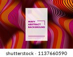distortion of stripes. abstract ... | Shutterstock .eps vector #1137660590