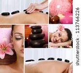 spa theme photo collage... | Shutterstock . vector #113766226