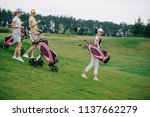 side view of women in polos and ... | Shutterstock . vector #1137662279