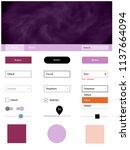 light pink  blue vector ui kit...