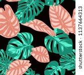 tropical pattern. seamless...   Shutterstock .eps vector #1137664313
