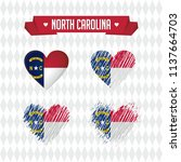 north carolina with love.... | Shutterstock .eps vector #1137664703