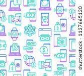 online banking seamless pattern ... | Shutterstock .eps vector #1137665120