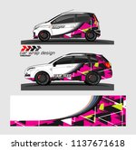 vehicle graphic kit. abstract... | Shutterstock .eps vector #1137671618