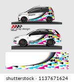 vehicle graphic kit. abstract... | Shutterstock .eps vector #1137671624