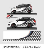 vehicle graphic kit. abstract... | Shutterstock .eps vector #1137671630