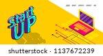 isometric startup banner...