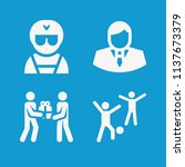 people related set of 4 icons...   Shutterstock . vector #1137673379