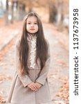 cute kid girl 4 5 year old...   Shutterstock . vector #1137673958