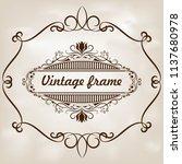 decorative frame in vintage... | Shutterstock .eps vector #1137680978